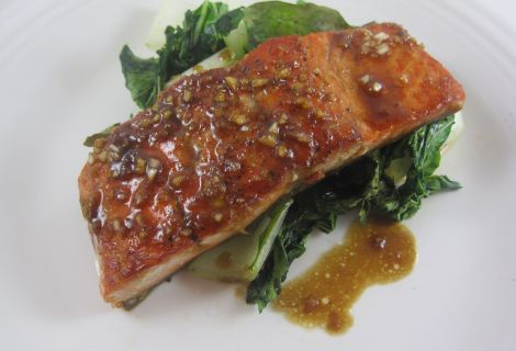 Paleo Fast Salmon with a Ginger Glaze