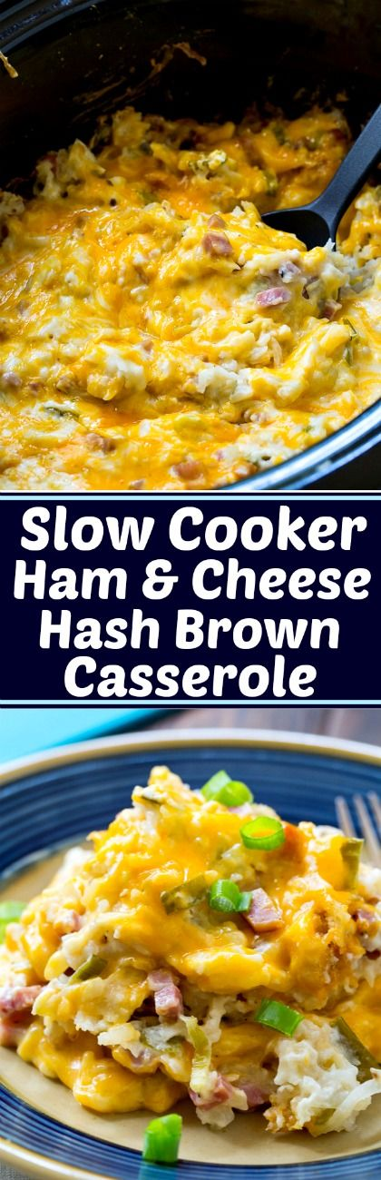 Crock Pot Ham and Cheese Hash Brown Casserole