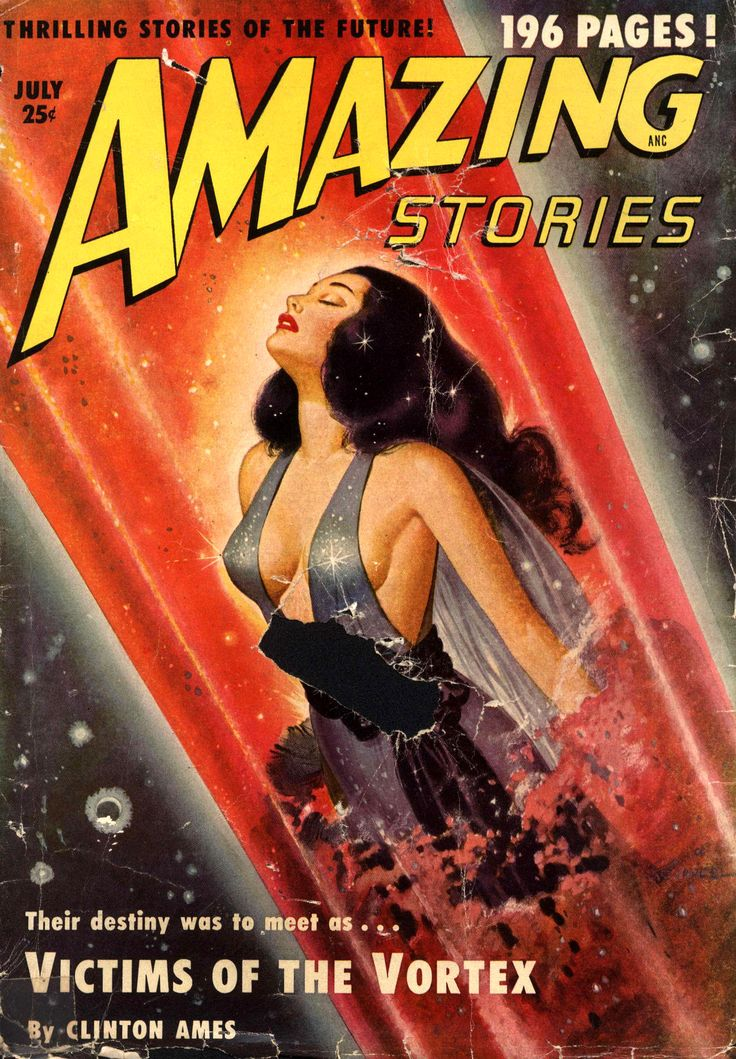 AMAZING STORIES // pulp art vintage science fiction cover paperback