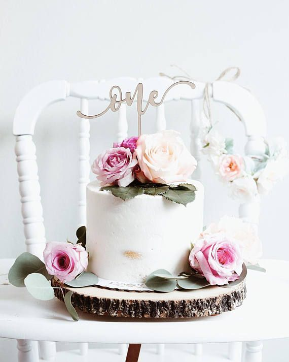 Awesome First Birthday Cake Topper One Cake Topper Number Cake Topper Personalised Birthday Cards Veneteletsinfo