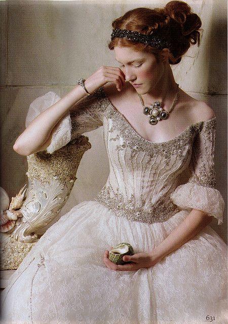.: Renaissance, Wedding Dressses, Princess, Style, Wedding Dresses, Wedding Gowns, Costume, Bride, Fairytale