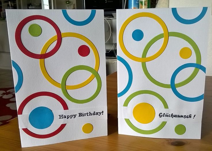 Circle Greeting cards: Happy Birthday and Congrats :)