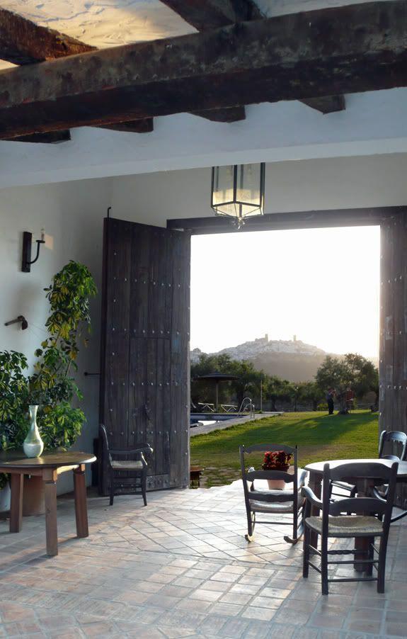 barn doors, beams and light floors