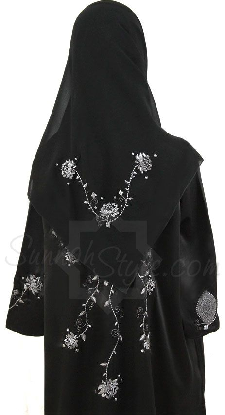 Girls Shimmering Roses Abaya by Sunnah Style #SunnahStyle #childabaya