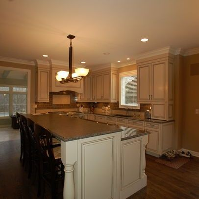 Lovely 2 level kitchen island kitchen keeper ideas for Two level kitchen island