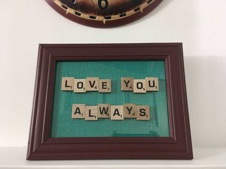 Handmade Frame Display - Love You Always - Scrabble Gifts - Rustic Rugged Home Decor - Newfoundland & Labrador - SALTY AIR INSPIRATIONS by SaltyAirInspirations on Etsy https://www.etsy.com/ca/listing/531429886/handmade-frame-display-love-you-always