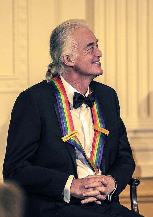Jimmy Page at the Kennedy Center Honors reception at the White House on December 2, 2012