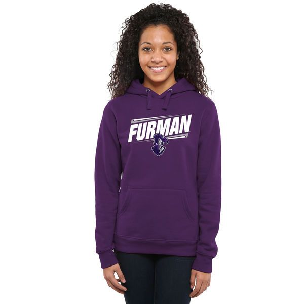Furman Paladins Women's Double Bar Pullover Hoodie - Purple - $44.99