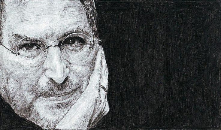 Steve jobs pencil sketch
