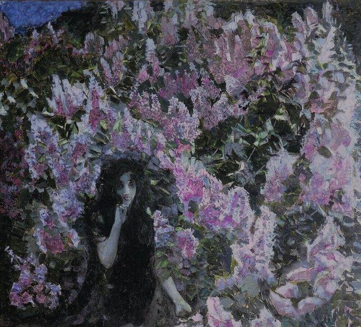 Михаил Врубель «Сирень» ミハイル・ヴルーベリ『ライラック』(1900)