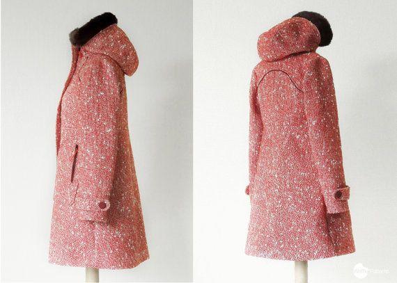 PDF sewing pattern. Women Hooded Coat Pepernoot by WafflePatterns