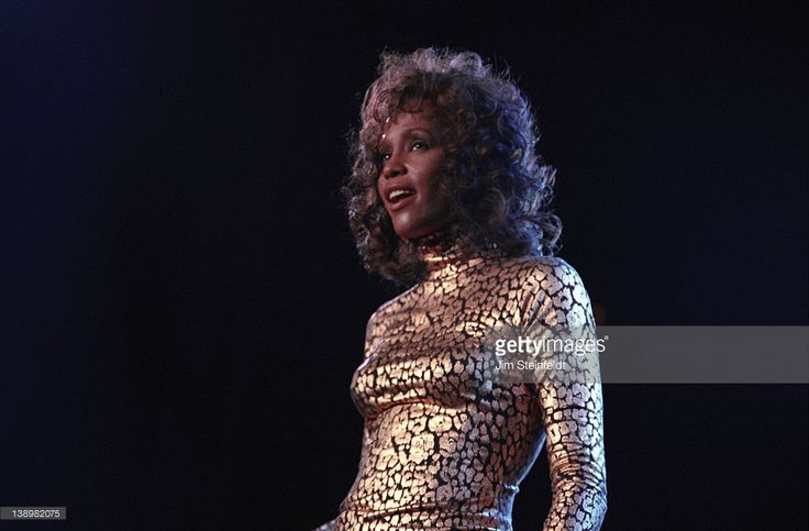 Whitney Houston performs at the Target Center in Minneapolis, Minnesota in 1994.
