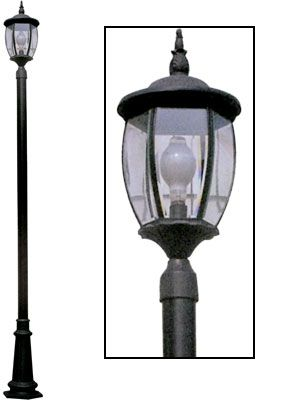 front yard lamp post with yard light. Black Bedroom Furniture Sets. Home Design Ideas