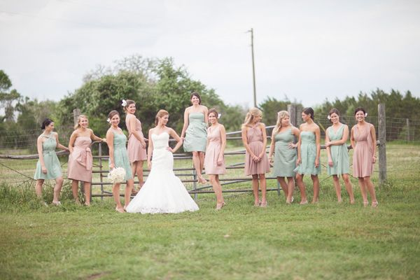 100 ideas for Spring weddings.... Love the pink and green, beautiful!!!