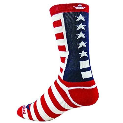 Red Lion Team USA Patriotic Crew Socks ( Navy / White / Red - Medium )  Red Lion Team Usa Patriotic Crew Socks Medium Navy Blue / White / Red ** All Sport Socks With Unique Patriotic Design; Red And White Stripes And White Stars Against A Dark Blue Background Makes For A Flashy Design.