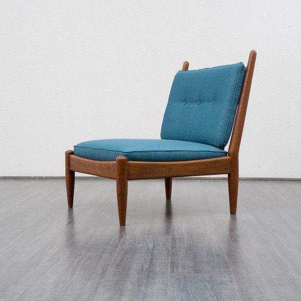vintage sessel 60er jahre sessel eiche neu gepolstert ein designerst ck von velvet point. Black Bedroom Furniture Sets. Home Design Ideas