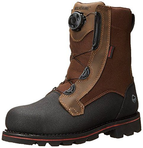 """Wolverine Men's Drillbit Oil Rigger Waterproof Boa Steel-Toe EH 8"""" Work Boot Real Brown 10.5 / M and Work Sock Bundle *** Check out this great product."""