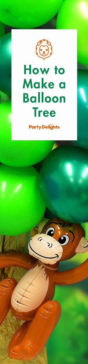 Find out how to make a balloon tree for your jungle party with our easy party DIY.