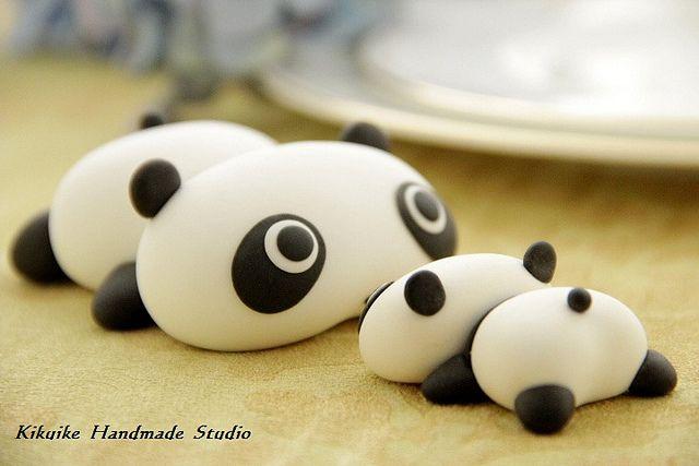 Birthday cake topper - Tare panda