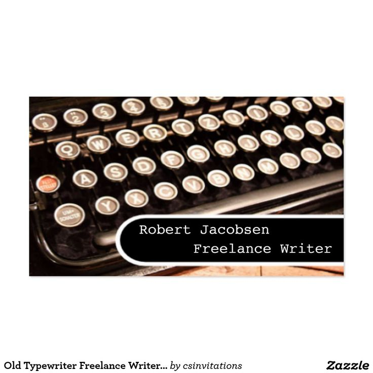 41 best business cards freelance writer images on pinterest old typewriter freelance writer business cards reheart Choice Image