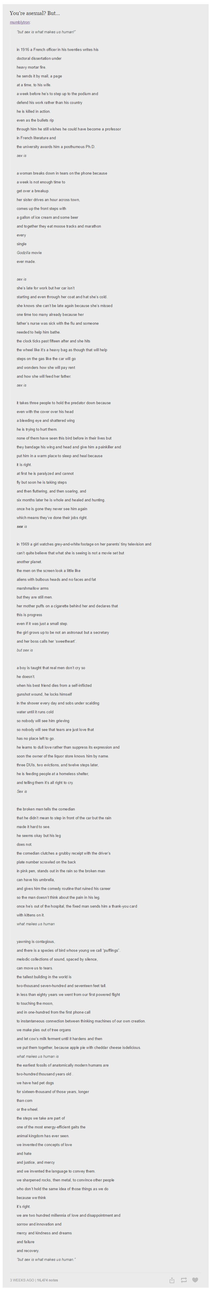 """You're Asexual But..."" THis is a really beautiful poem that everyone needs to read. Like now."