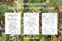Rozsiahla zbierka - jesenné pracovné listy pre predškolákov, prípadne malých školákov - rôzne oblasti - grafomotorika, počítanie, farby....