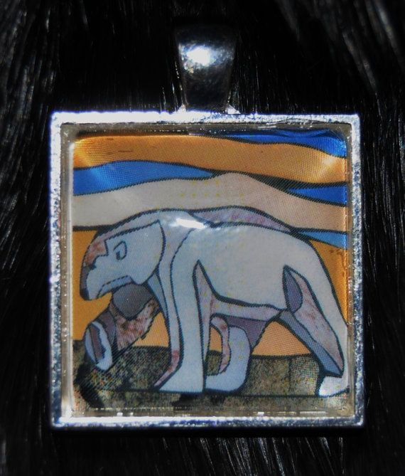 Polar Bear Pendant by KabloonaKreations on Etsy, $18.00