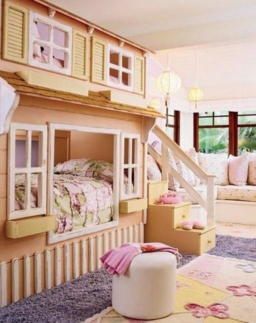 Cute girls bedroom:  Cots, Dolls Houses, Idea, Kidroom, Dreams Rooms, Girls Bedrooms, Bunk Beds, Little Girls Rooms, Kids Rooms