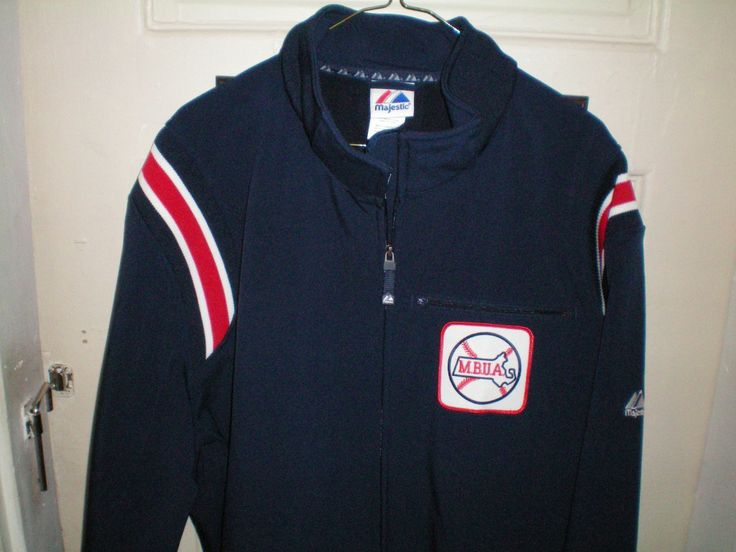 Navy Majestic Umpire Jacket, with MBUA Patch.