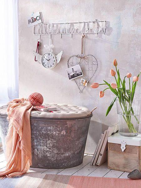 Romantisch wohnen in zarten Rosatönen