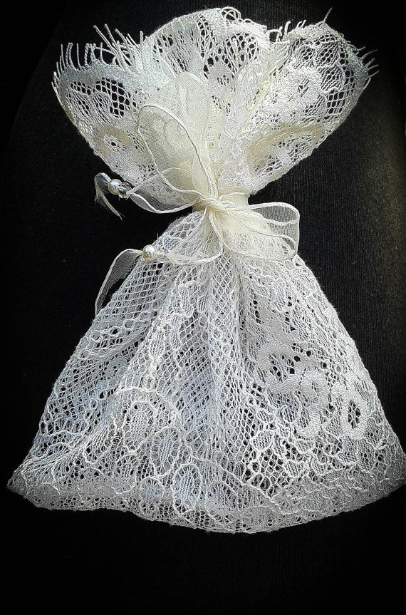 set di 10 Bomboniere rustiche lase regali sacchetto di di Darunok