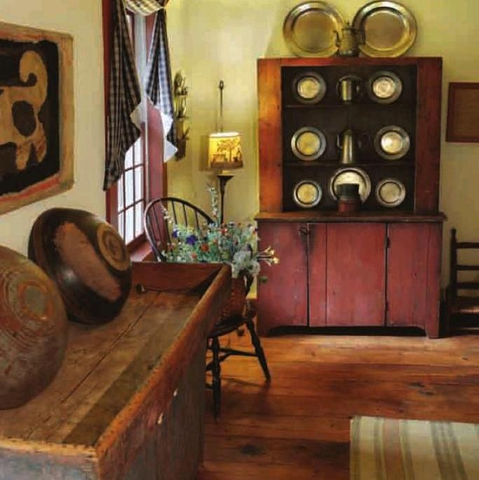 """Clinch Home from Tim Tanner's """"Early American Country Homes"""": American Country, Primitive Cupboards, Primitive Decorating, Primitive Inspiration, Colonial Primitives, Windsor Chairs, Primitive Rooms, Country Primitives, Country Homes"""