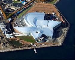 The blue planet aquarium in Copenhagen, Denmark