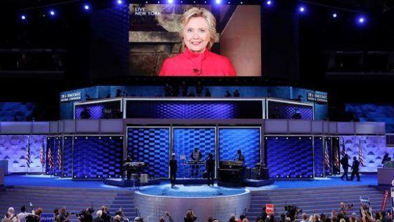 Hillary Clinton burst through Alicia Keys' Democratic convention performance