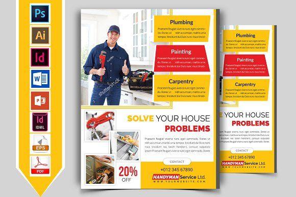 Handyman Plumber Service Flyer V 1 By Imagine Design Studio