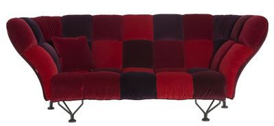 33 Cuscini Straight sofa Red by Driade - Design furniture and decoration with Made in Design