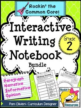 Interactive Writing Notebook for 2nd GradeBTS (BOOST TEST SCORES) WRITING PROGRAM- an all-inclusive step-by-step writing program that has been proven to be 98% effective with exemplary scores! You will find 400+ pages of lesson plans, creative ideas, teaching slides, practice sheets, mentor texts, etc.