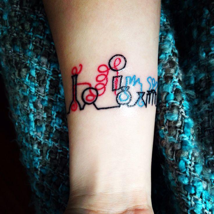 My chemistry tattoo!