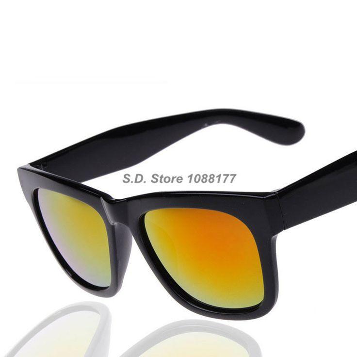 2014 Retro Big Black Box Wholesale Sunglasses Reflective Sunglasses Glasses  For Men And Women $6.80