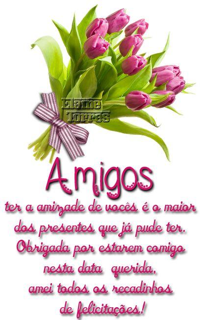 Cartões Elaine Torres: ♥ AGRADECIMENTO DE ANIVERSÁRIO