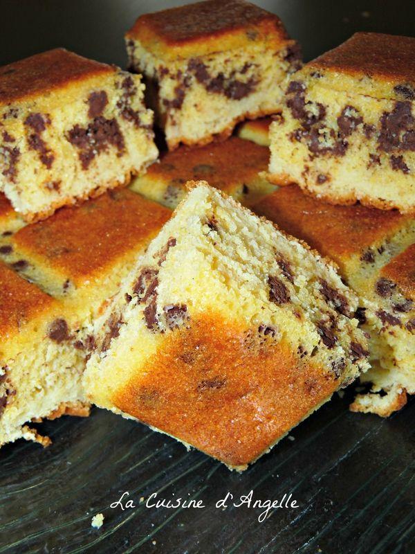 Gateau de polenta aux pépites de chocolat                                                                                                                                                      Plus