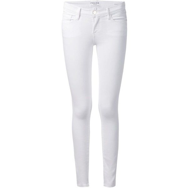 Frame Denim cropped skinny jeans ($260) ❤ liked on Polyvore