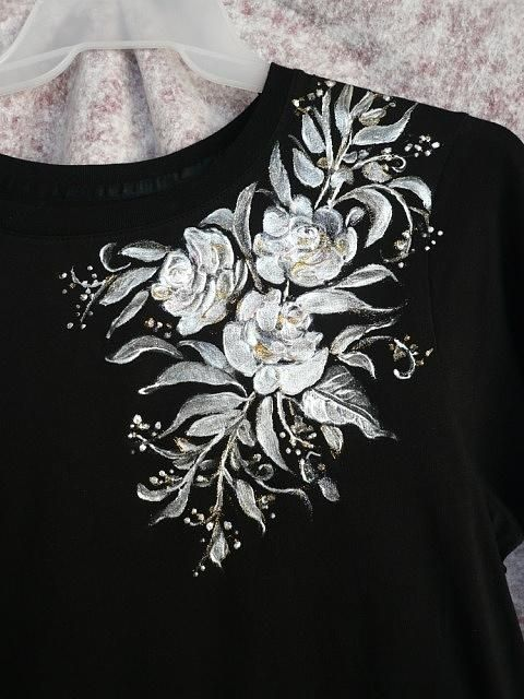 Hand Painted Shirts | Hand Painted T- Shirt Tapestry - Textile by Karin Best - Hand Painted ...