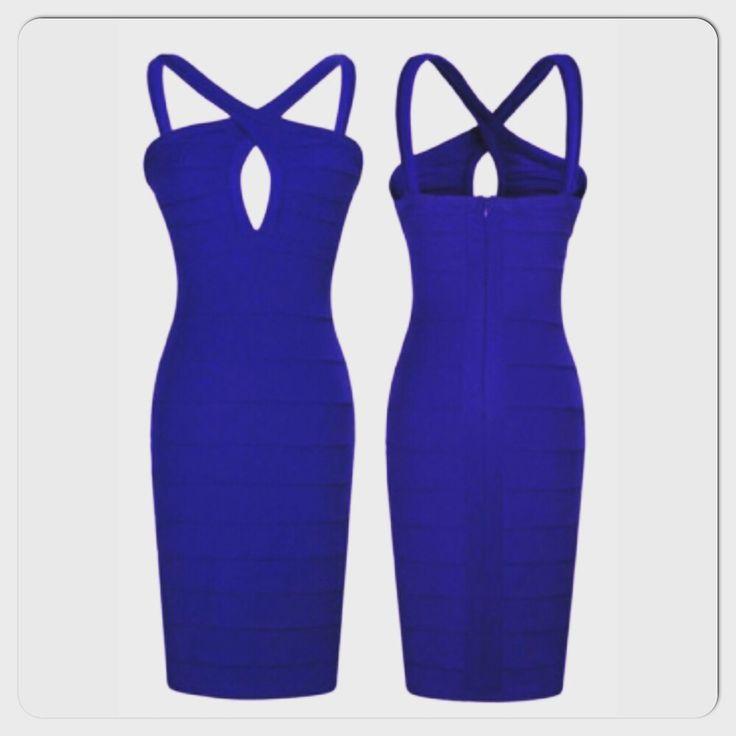 Blue Bandage Dress EvogueClothing.bigcartel.com