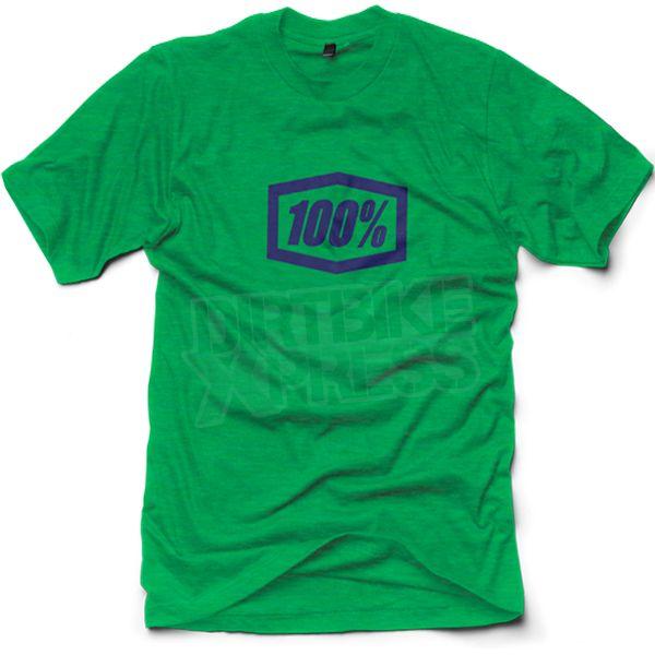 100% Essential T Shirt - Heather Kelly Green