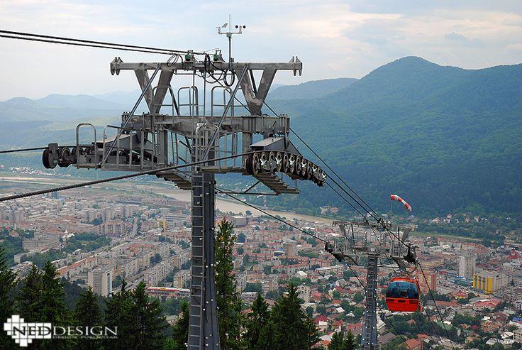 Telegondola - Piatra Neamt City, North of Romania