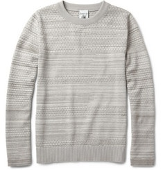 S.N.S. HerningTrope Pointelle-Knit Cotton and Wool-Blend Sweater