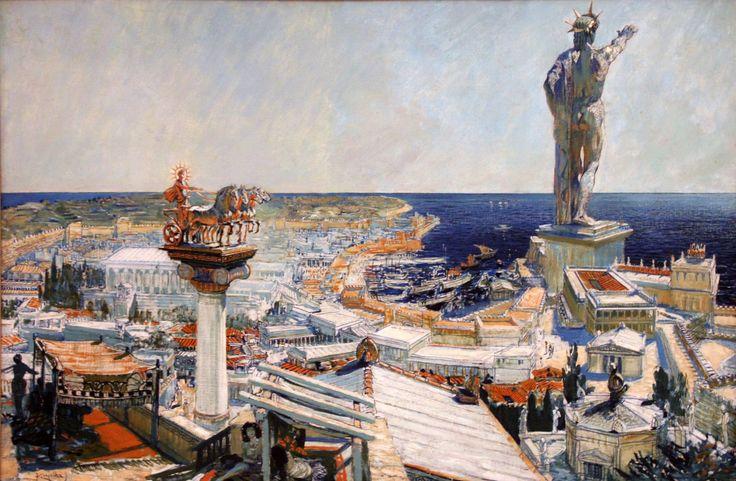 Coloso , realizado en el 292 a.c por el escultor griego Cares de Lindo en la isla de Rhodas (Grecia). - Destruida un terremoto en el 226 a.c-