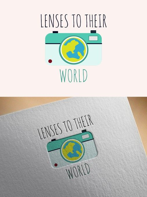 Create a logo for a new photography charity for children called Lensesto Their World! by Iskra_U
