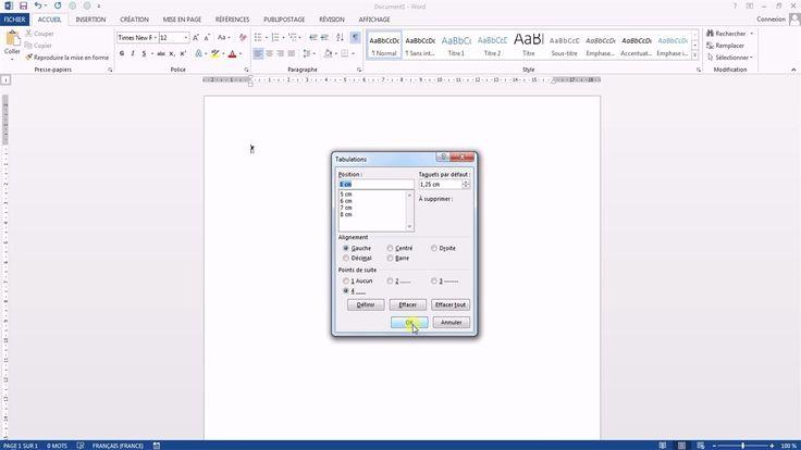 Tutoriel vidéo pour apprendre à utiliser les taquets de tabulations sur Word. Comment créer des taquets de tabulations à l'aide de la règle Word ? Comment créer des points de suite sur Word ? Comment créer des pointillés avec tabulations Word ?  Pour lire ce tutoriel en version texte, rendez-vous sur Votre Assistante : http://www.votreassistante.net/creer-taquets-de-tabulations-word